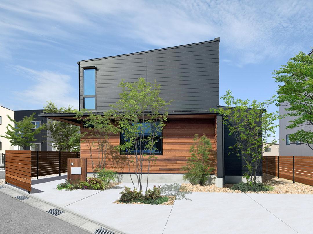 「土間のある暮らしの家」完成予想パース