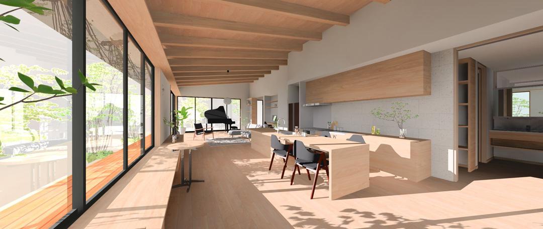 「眺望を愉しむ平屋の家」構造見学会